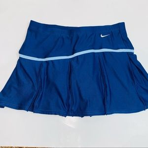 Nike pleated tennis skirt blue small skort womens
